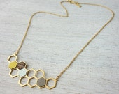 Kim Necklace, geometric polygon jewelry, Scandinavian design