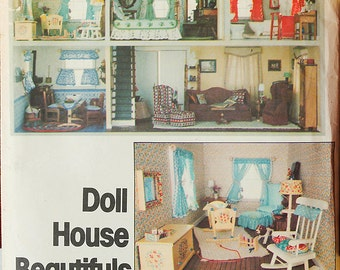 Sew a Doll House Vogue 1772 Craft Sewing Pattern UNCUT, Doll furniture, Quilt, shams, Shower curtain, towels, baby blanket, Kitchen rug