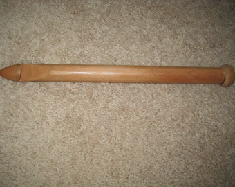 Jumbo 13 Inch Afghan Tunisian Wood crochet hook SIZE 19 mm   US S  35 (We also have size P, Q, and  U, )