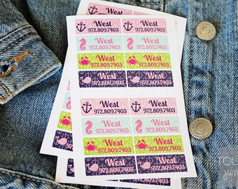 GIRLS peel 'n stick clothing labels