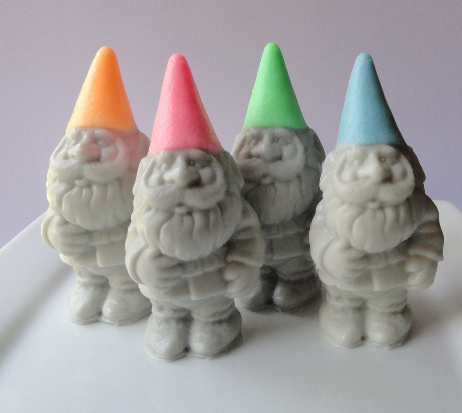 Gnome 4: Garden Gnome Soap Gift Set All 4 Gnomes Green By KcSoapsNmore