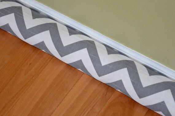 Door draft stopper cover ash grey zig zag premier prints for Door wind stopper