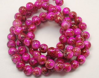 """Colorful """"Painted"""" Beads - 8mm"""