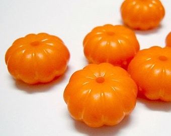 Pumpkin Beads - Set of 20 beads - Acrylic - #ACR155