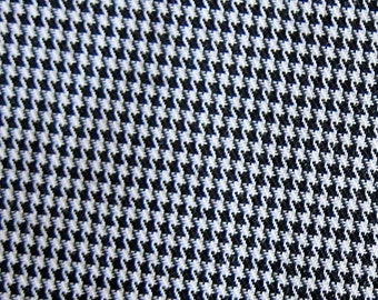Japanese Fabric - Houndstooth Fabric in Black and White - Half Yard
