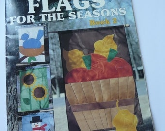 Flags for the Seasons, Patterns, Leaflet 1386, Book 2, Leisure Arts, Sewing, Unique Flags, Home Decor, Holiday Seasonal, Decorative Flags