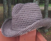 PDF CROCHET PATTERn DOUBLE STRANd Cowboy Cowgirl Hat Toddler, Child, Pre-Teen to Adult Women with Star Pattern