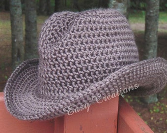 Free Crochet Cowboy Hat Pattern For Adults : Cowgirl hat Etsy