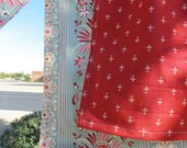 French Country  Half Apron Red Fleur De Lis French General Fabrics