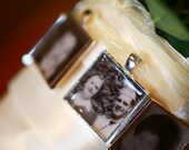 Wedding Bouquet Photo Charm - Bouquet Picture Charm - Photo Bouquet Charm - Boutonniere Charms - Bridal Bouquet Charm