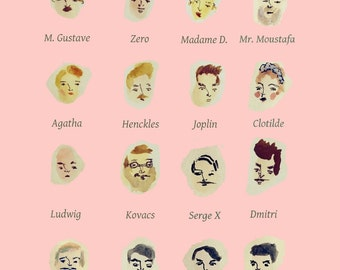 The Grand Budapest Hotel - a3 print of quirky art illustration