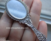 Focal, Antiqued Silver Single-Sided Realistic Hand Mirror