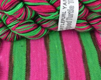 Pow! - Hand-dyed Self-striping sock yarn