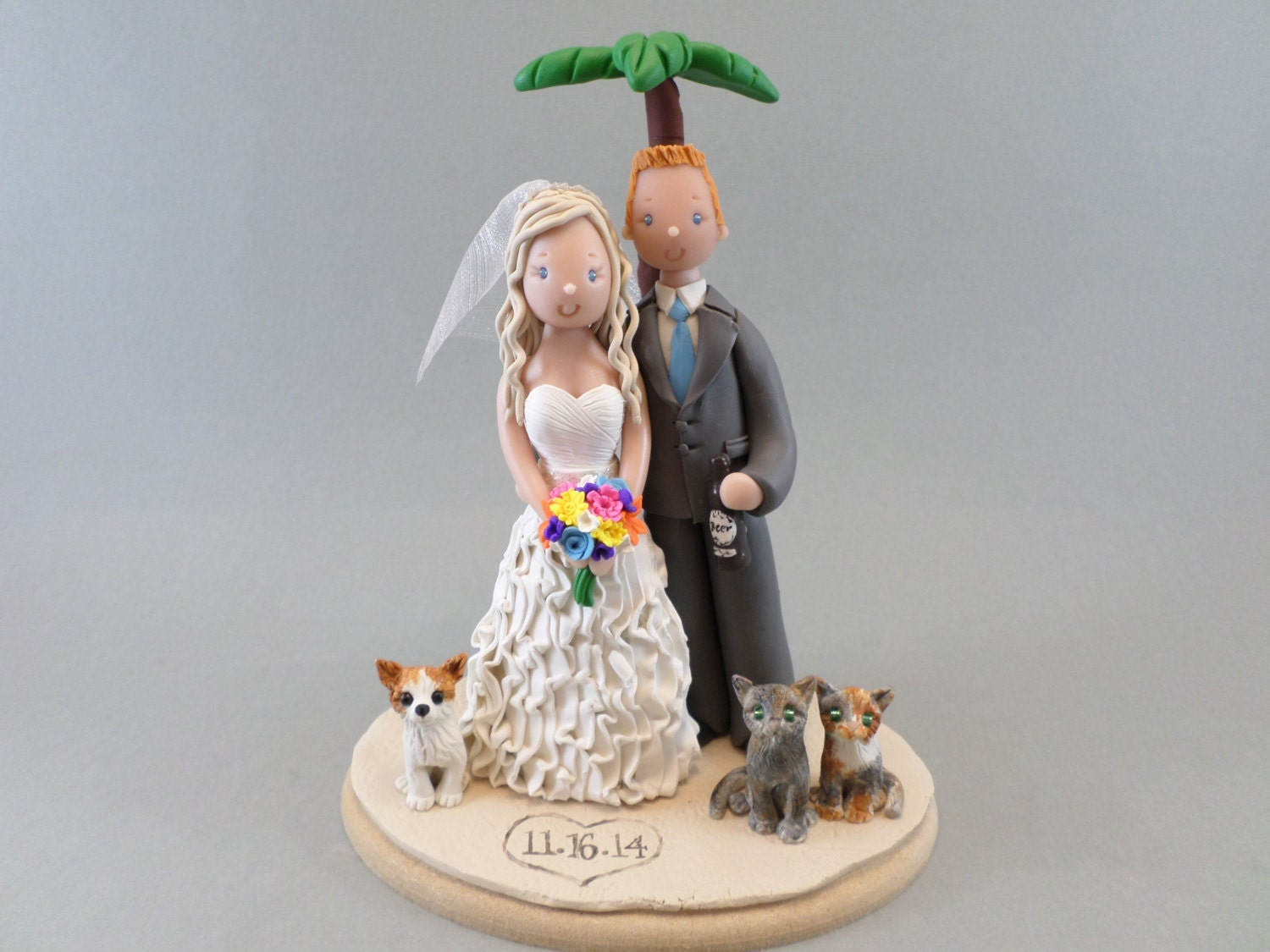 beach themed wedding cake toppers personalized outdoor theme wedding cake topper 11154