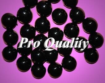 Wholesale 72 Mock Black Onyx Acrylic Cabochons 13MM  ER6