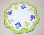 """15.5"""" Spring Garden Design Penny Rug"""