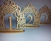Ornate Flourish Wedding Table Numbers