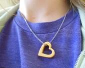 Maple Heart Shaped Pendant Necklace