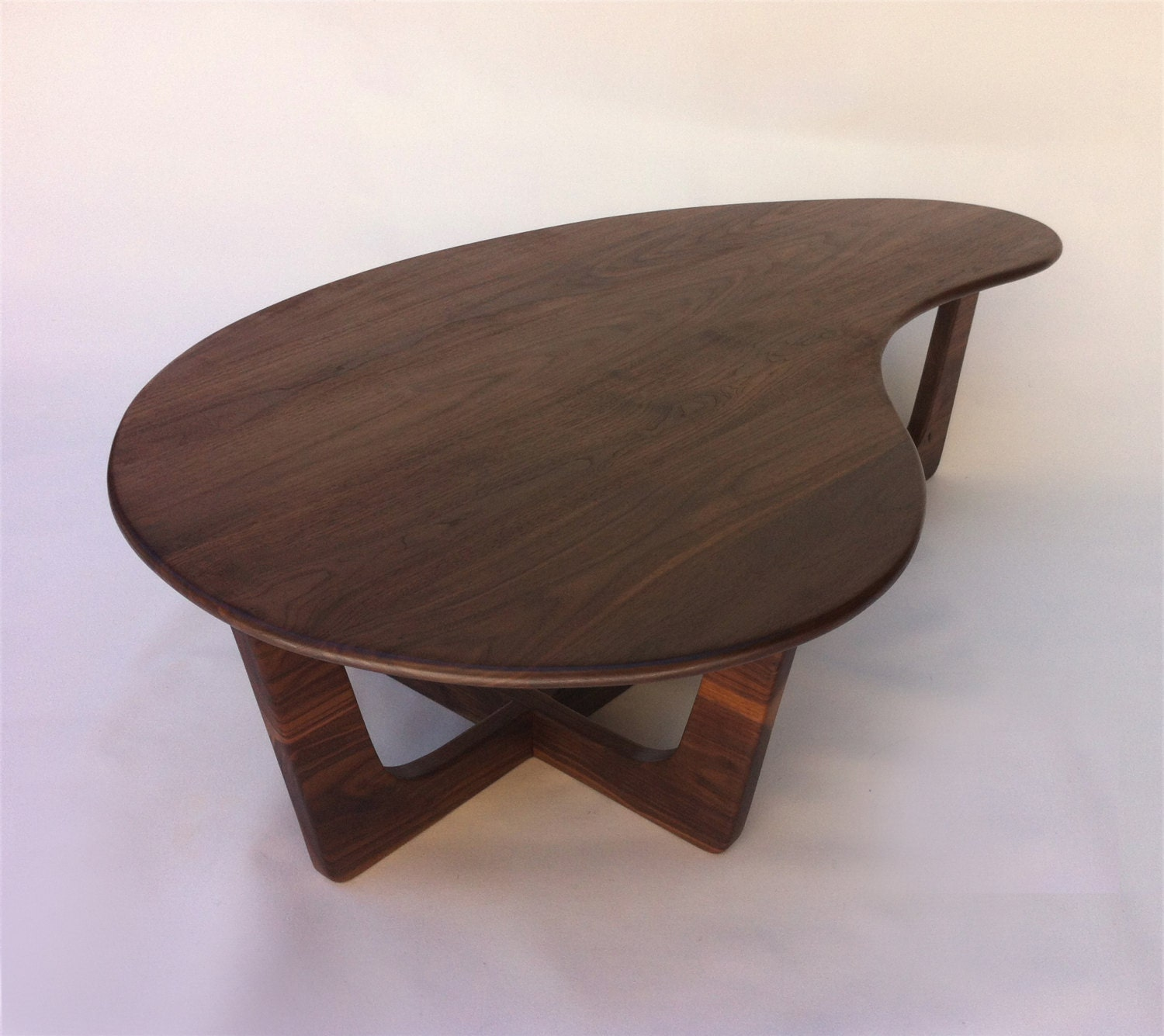 60 Kidney Bean Cocktail Table Mid Century Modern