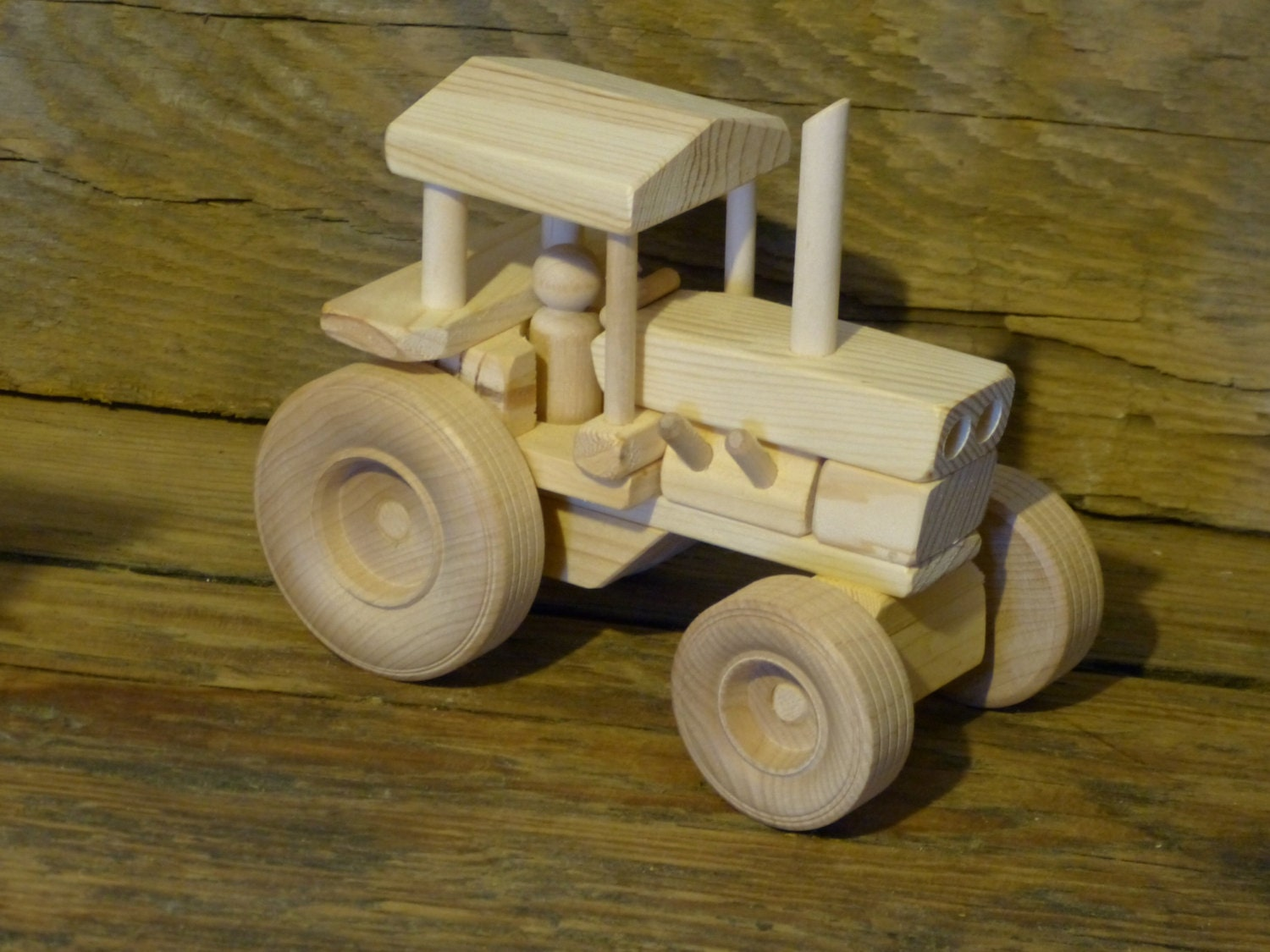 Tractor Toys For Boys : Handmade wood toy farm tractor wooden toys childs kids boys
