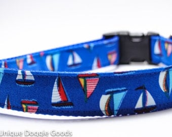 Sailboats - Custom Dog Collar