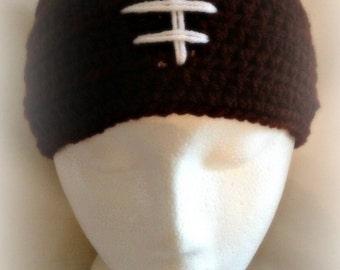 Crochet Football headband, Football headband,LET'S PLAY FOOTBALL Headband Head wrap Ear warmer Warm Hair Band (Ready to Ship)