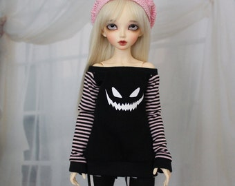 Minifee Ghost Face Shirt Black, 1/4 Size Doll Clothes