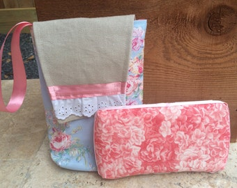 Pink Roses diaper pouch