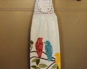 Songbirds Crocheted Top Towel-KOE30