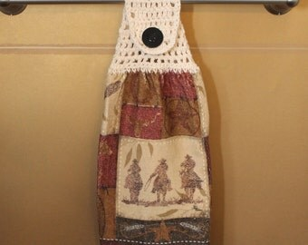 Go West Crocheted Top Towel-KOE42