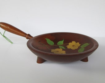 Hand Painted Munising Wood Bowl