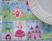 Single Fabric Placemat, Fairytale Princess Placemat, Girls Placemat, Kids Placemat, Lunchbox Placemat. School Placemat