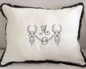 LULU.... pillow.. Personalized with Monogram