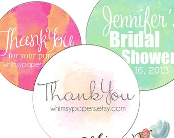 Personalized Stickers - Custom Watercolor - Packaging Stickers, Address Labels, Wedding
