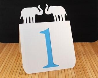 Elephants Table Numbers 1 to 25 Wedding