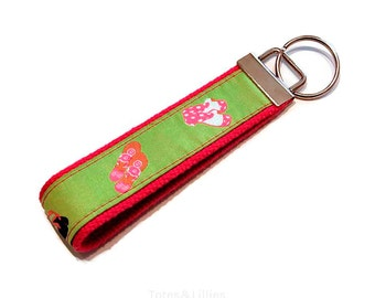 Preppy Lime Sandals & Flip Flops Key Fob Keychain