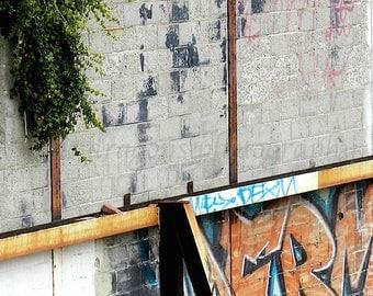 Urban Art Graffiti Photo, Modern Wall Art, Graffiti Art, Urban Photography, Man Cave Decor, City Print, Philadelphia Photography, Street Art