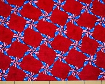 Fat Quarter Patriotic Pinwheels, Pin Wheels Fabric