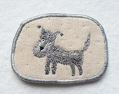 """Brooch - """"Salty"""" -  Funny Dogs - collection, hand embroidered pet brooch"""