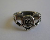 "Disney Vintage Original  Mickey Mouse Musketeer Club Ring Sterling""  Special  Less Than Half Price Read Down Below"