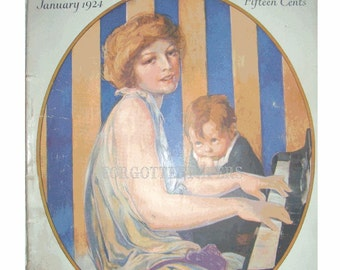 1924 WOMAN'S HOME COMPANION - Wonderful Cover Art  Signed by Rose O'Neill - John LaGatta Signed Fashion Print