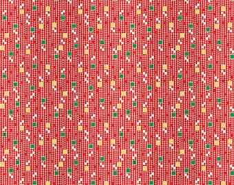 SPRING SALE - Hope Chest - Squares in Red - 1 Yard - C4255-Red - by Penny Rose Fabrics