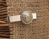 Men's Accessories - Father's Day - Upcycled Button Jewelry - FD Button Tie Bar - Gift for Guy - Fireman, Firefighter, September 11
