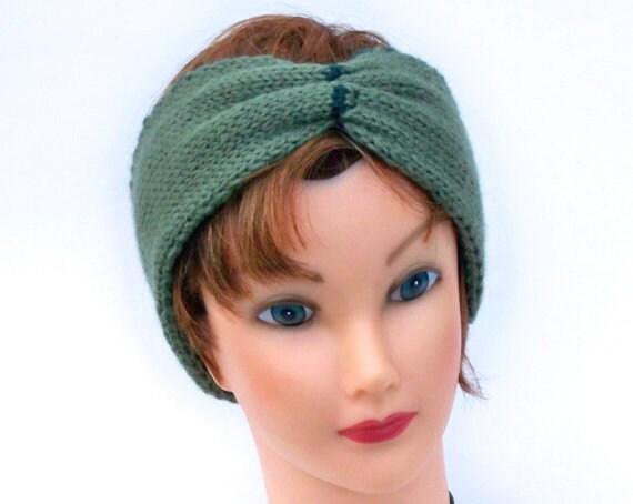 Reversible Headband Knitting Pattern : Double Knit Headband Reversible Bow Head Wrap In Sherwood