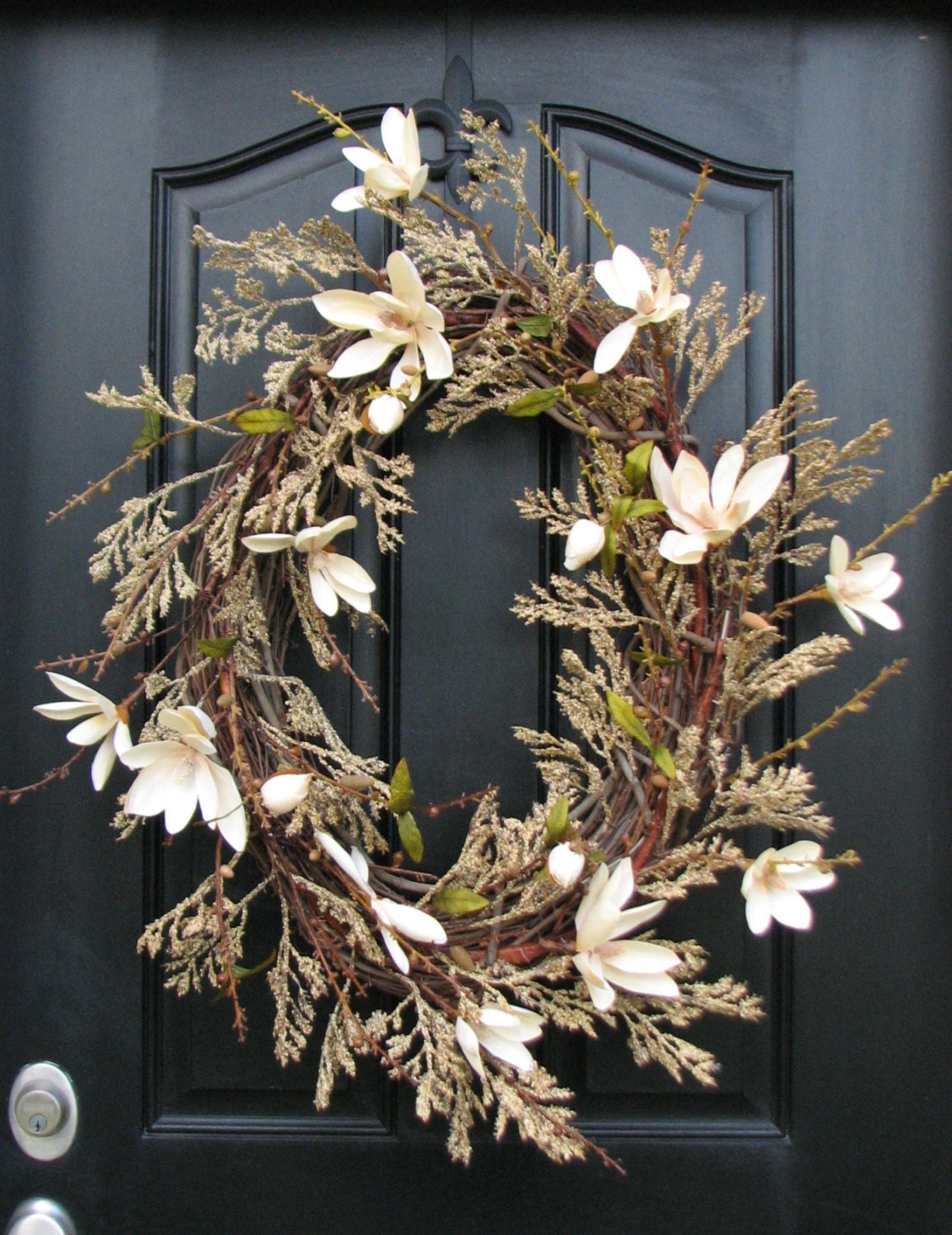 Magnolia Leaf Wreath: Magnolia Wreath Magnolia Leaf Wreath Everyday Wreaths Front