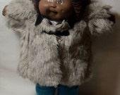 Vintage Faux Fur Lined Coat