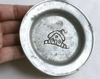 Pewter Trinket Dish / Coaster - Carson Pewter Made in USA