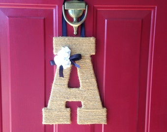 Jute Wrapped Letter Door Hanging