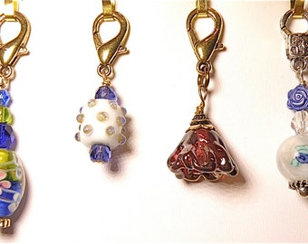 20% OFF SALE -- Choice of Zipper Pull with Lampwork Glass Beads