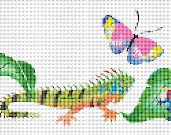 Cross Stitch Pattern, Cross Stitch Patterns, Cross Stitch, Counted Cross Stitch, Cross Stitch Chart, Xstitchpatterns, Cross Stitch Reptiles